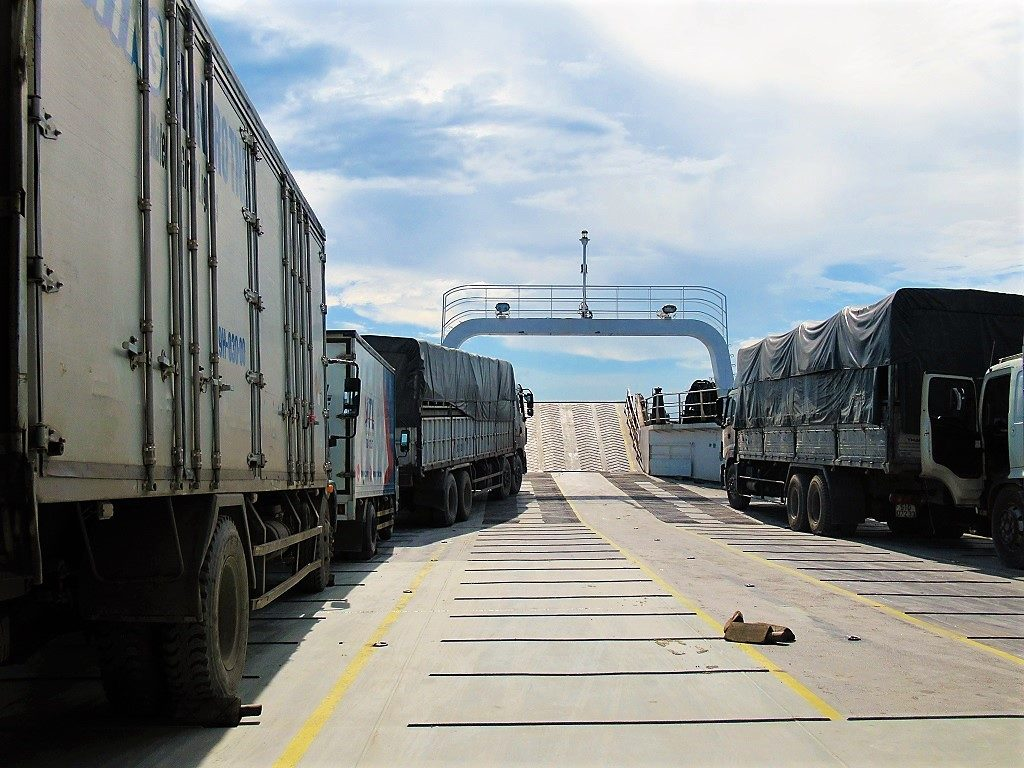 The car ferry from Ha Tien to Phu Quoc Island, Vietnam