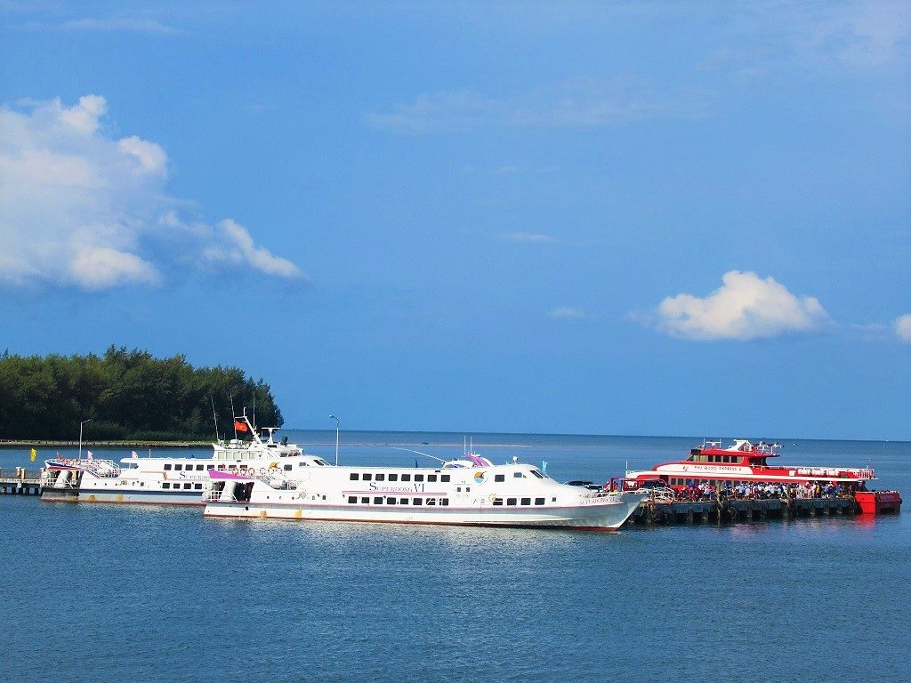 Fast boat ferries, Phu Quoc to the Mekong Delta, Vietnam