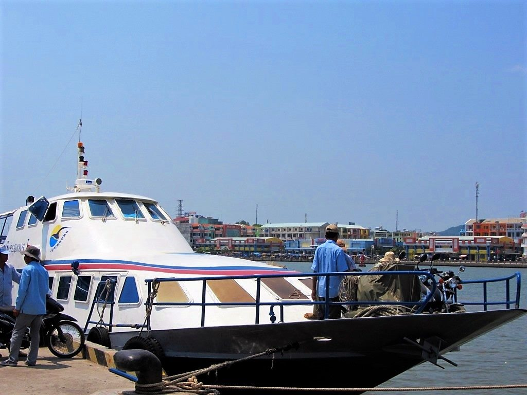 The fast boat from the Mekong Delta to Phu Quoc Island, Vietnam
