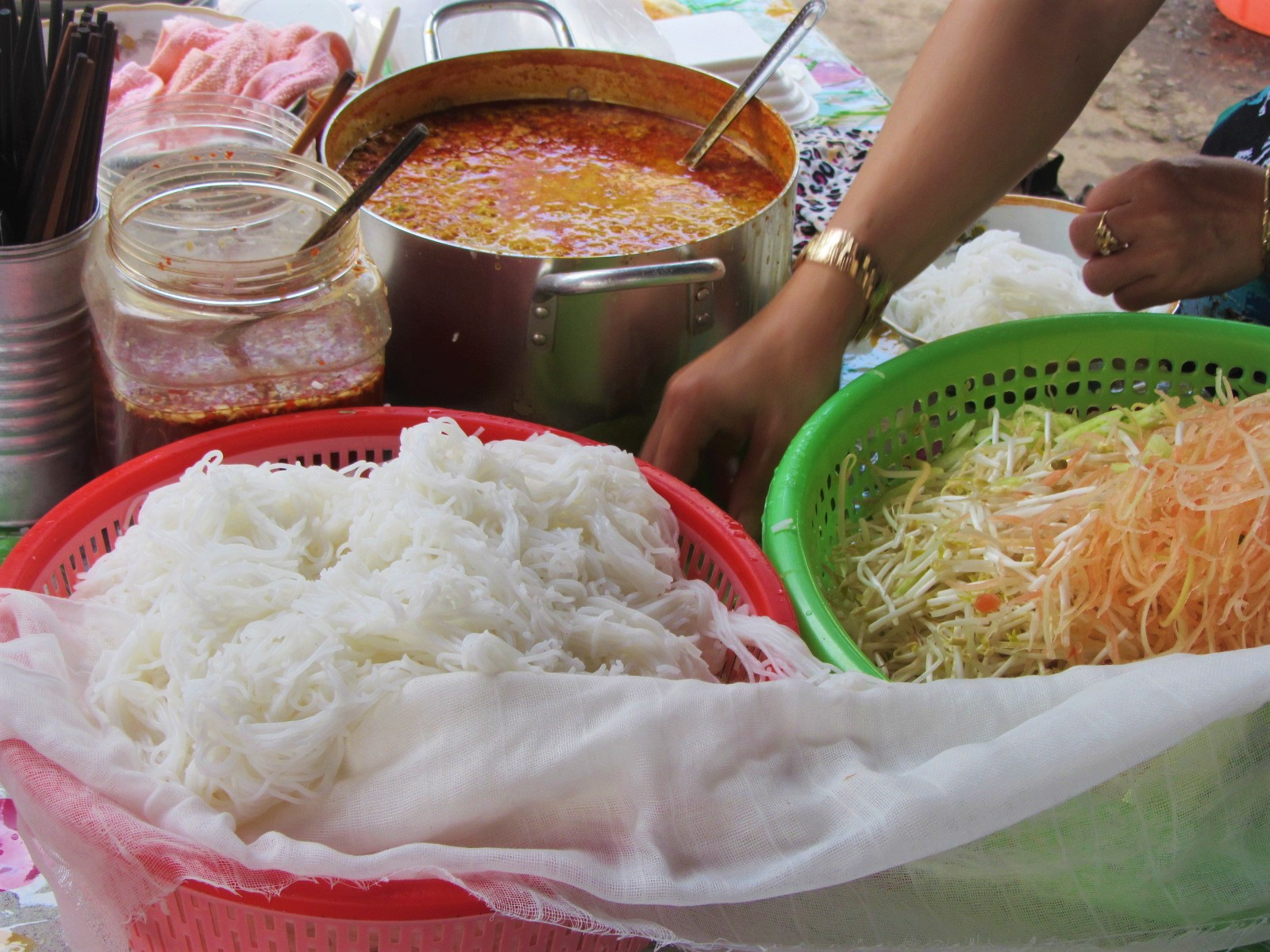Bún kèn noodles at Ut Luom, Duong Dong, Phu Quoc