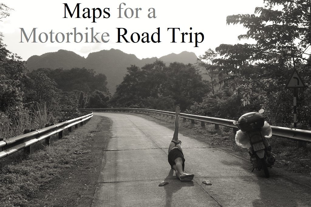 Which road maps to use for a motorbike trip in Vietnam