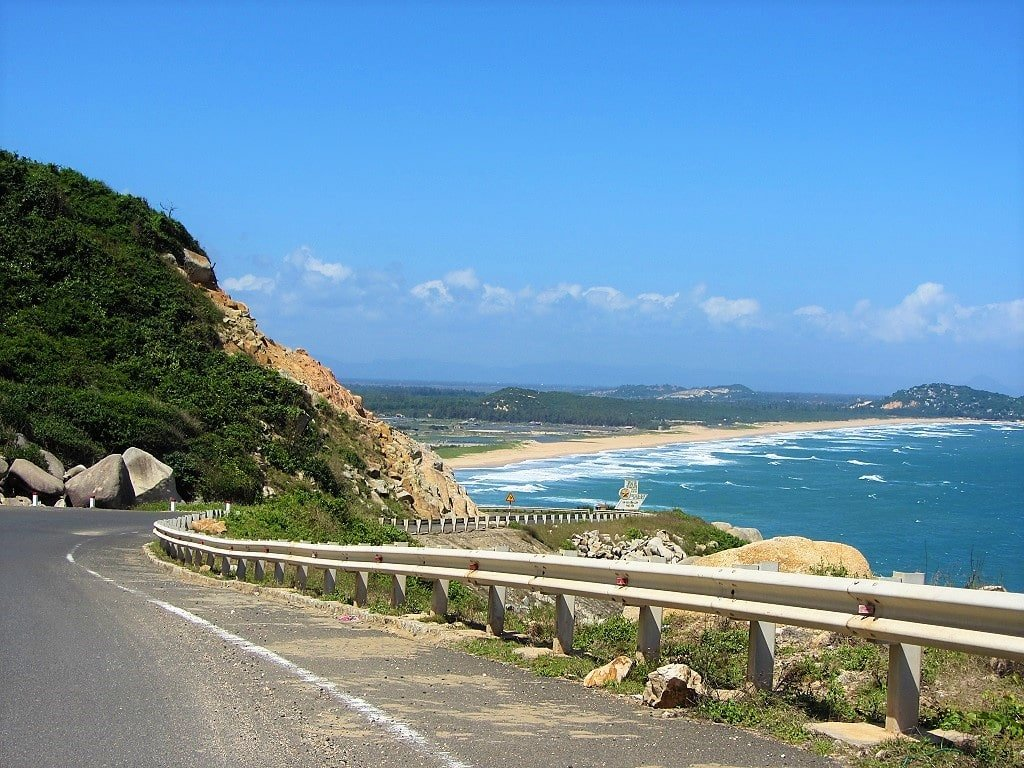 The Deserted And Spectacular Coast Road Between Tuy Hoa Vung Ro Bay