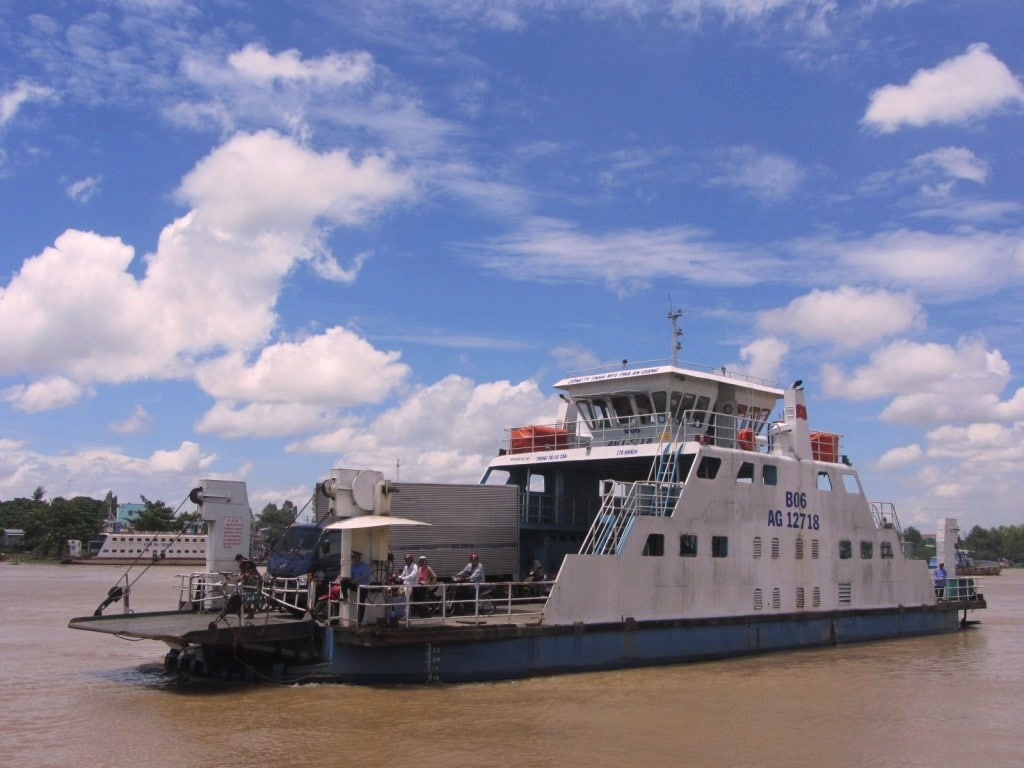The Chau Doc ferry, Mekong Delta, Vietnam