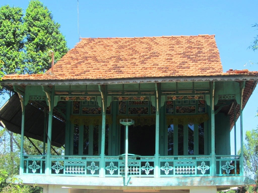 Decorative wooden home, Mekong Delta, Vietnam