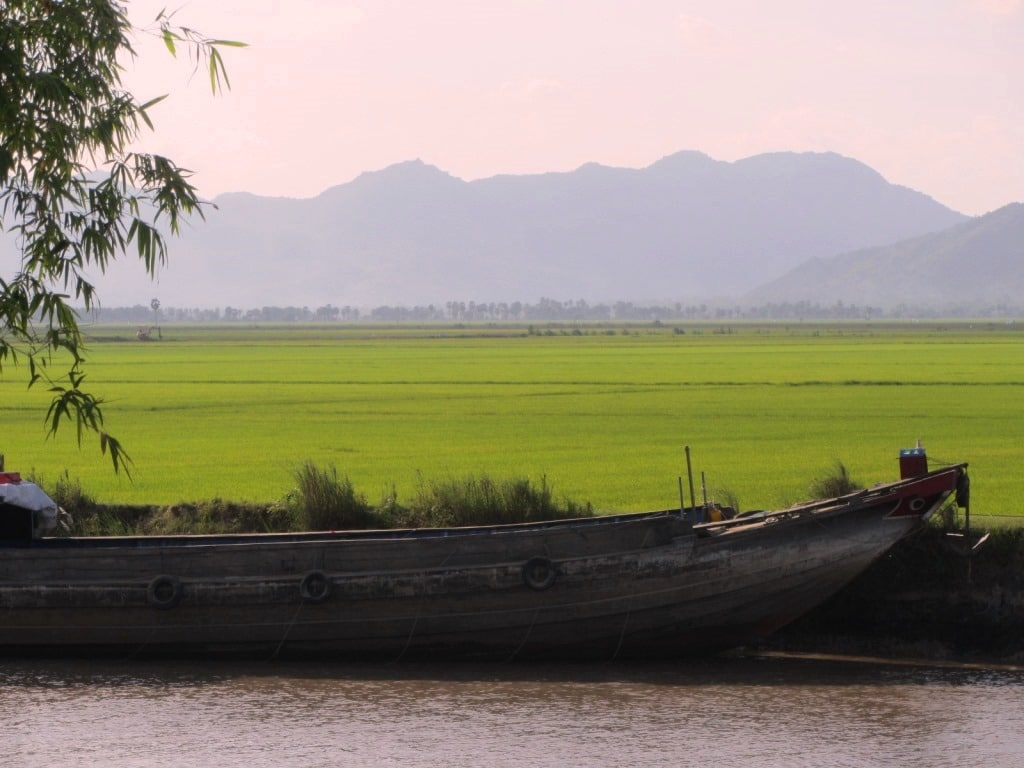 The Vietnam-Cambodia border, Mekong Delta