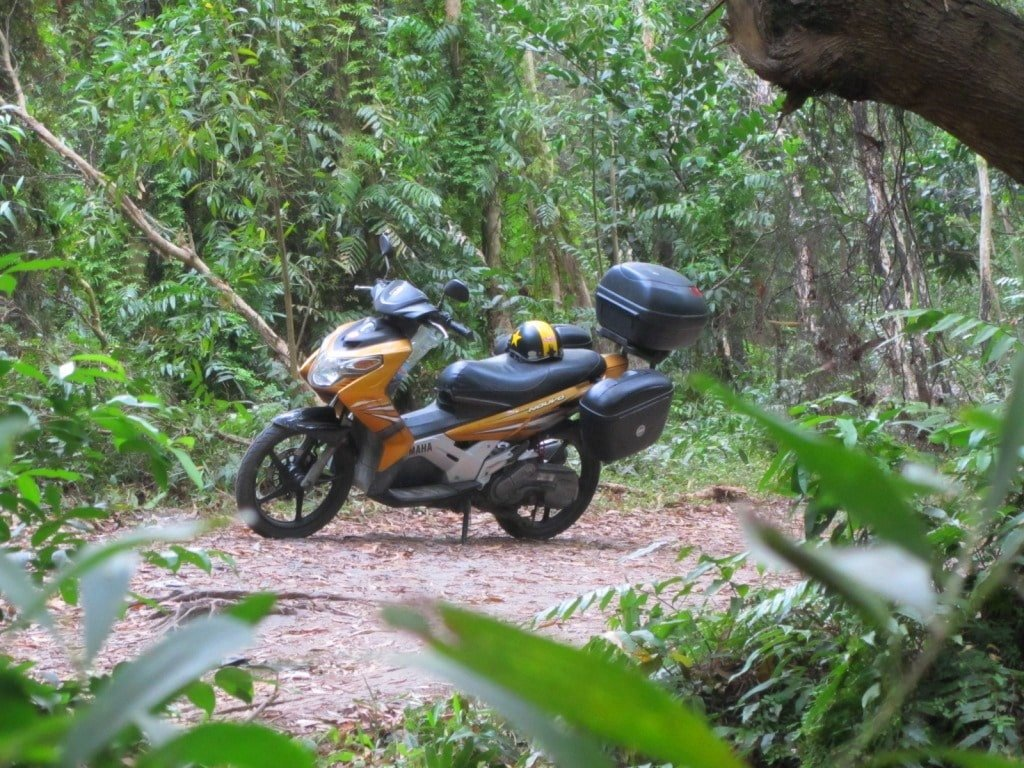 Motorbiking the dirt roads on Phu Quoc Island, Vietnam