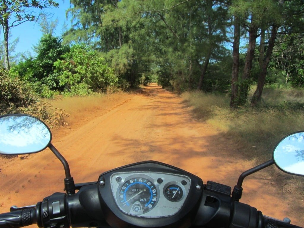 Dirt road to Vung Bau Beach, Phu Quoc Island, Vietnam