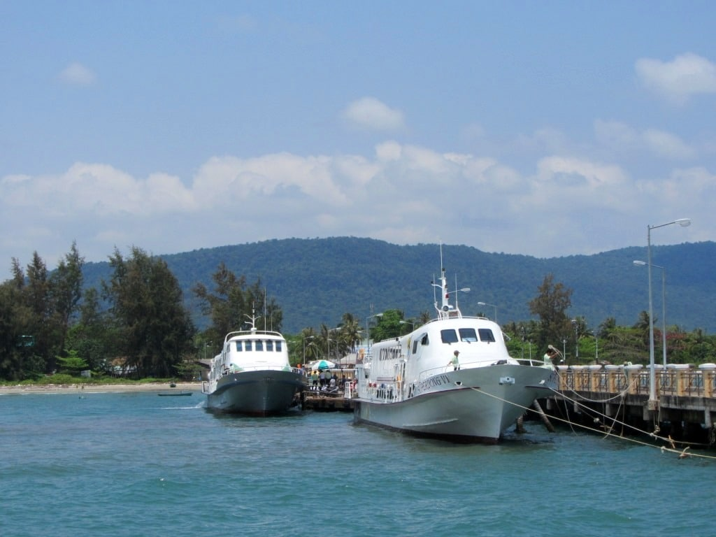 The fast boat from Ha Tien to Phu Quoc Island, Vietnam