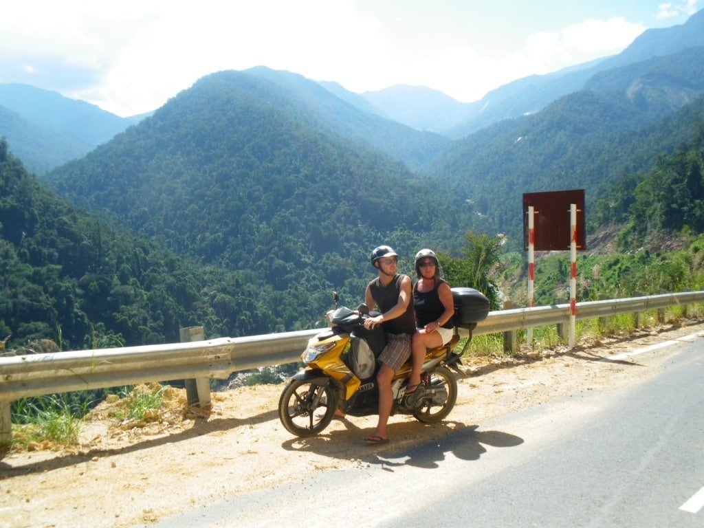 Stavros, my motorbike, in Vietnam's Central Highlands