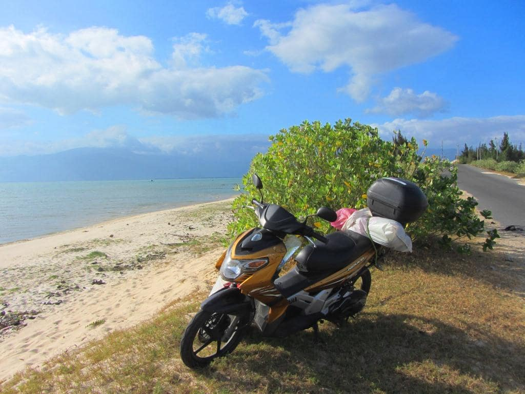 Stavros, my motorbike, on the southeast coast, Vietnam