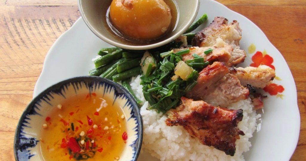 Typical rice meal - cơm bình dân, Vietnam