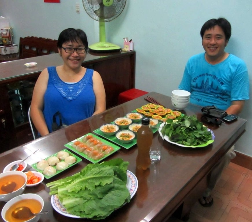 Our hosts, Thiên (left) & Tài (right)
