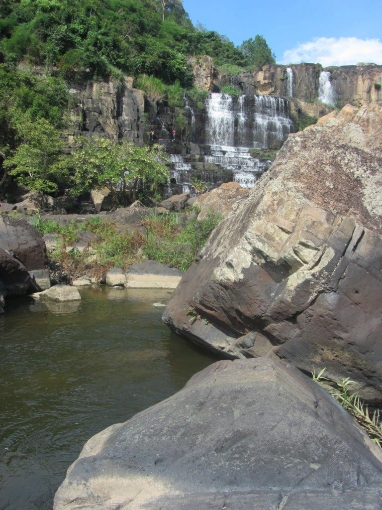 Pongour falls suffers from reduced volume of water
