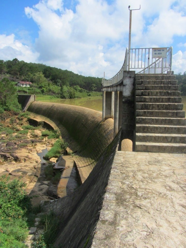 Ankroet falls is actually a French-built dam