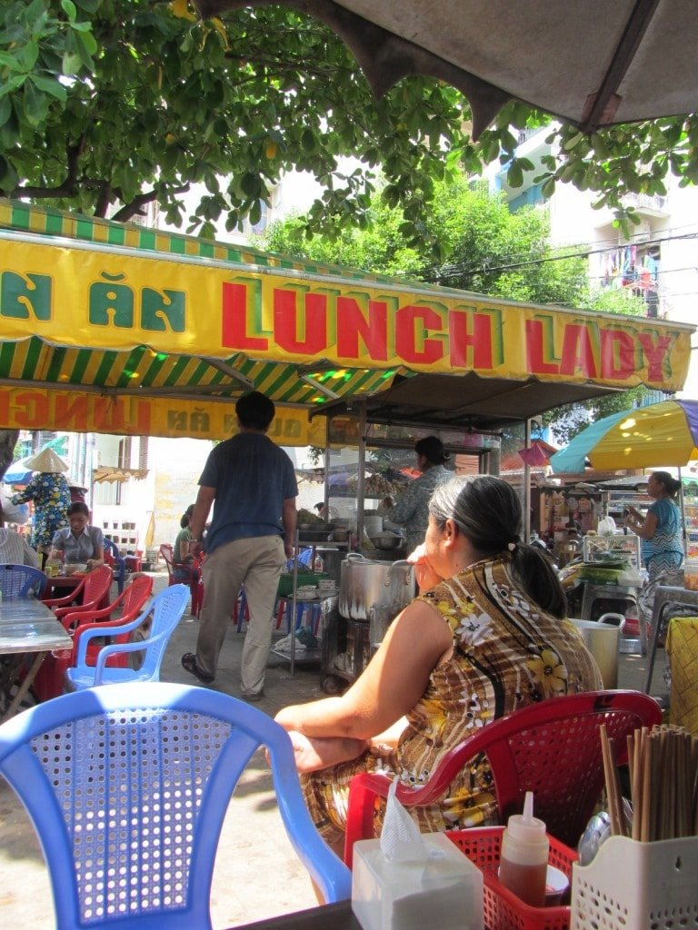 Atmosphere: The Lunch Lady's corner in Saigon