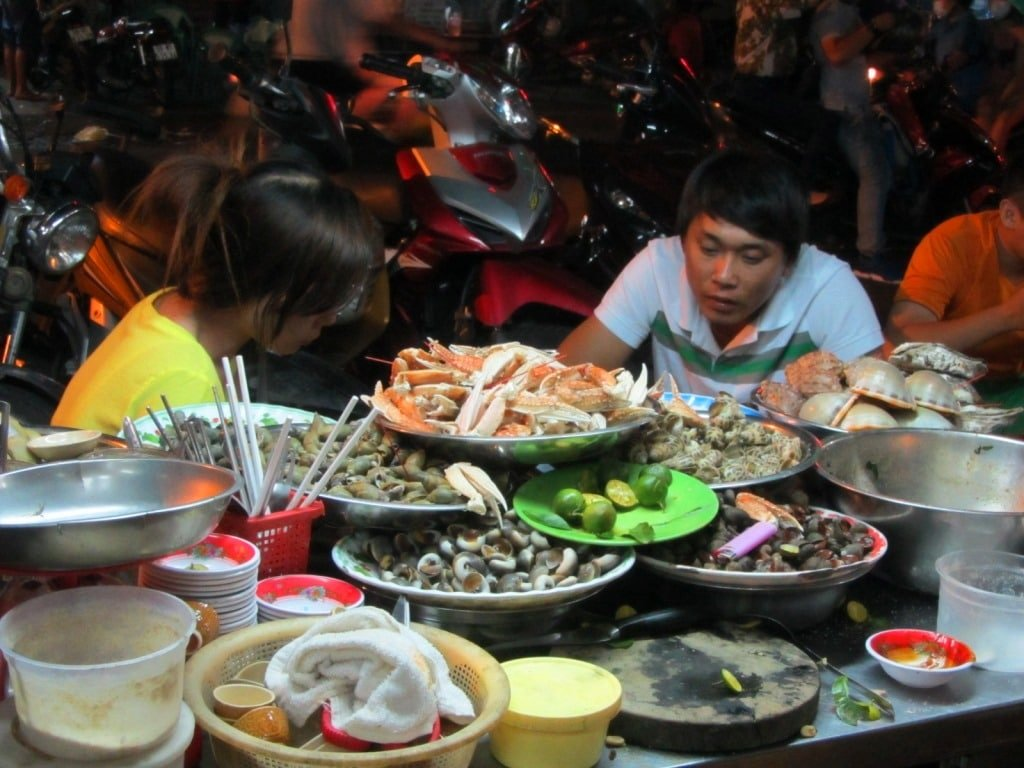 Shellfish street food, Saigon
