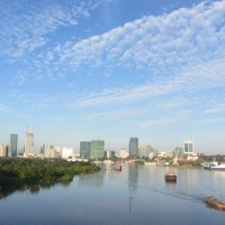 Cleansed: Saigon bathes in dawn light