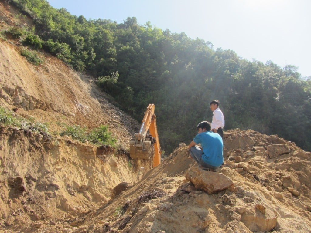 Clearing the landslide