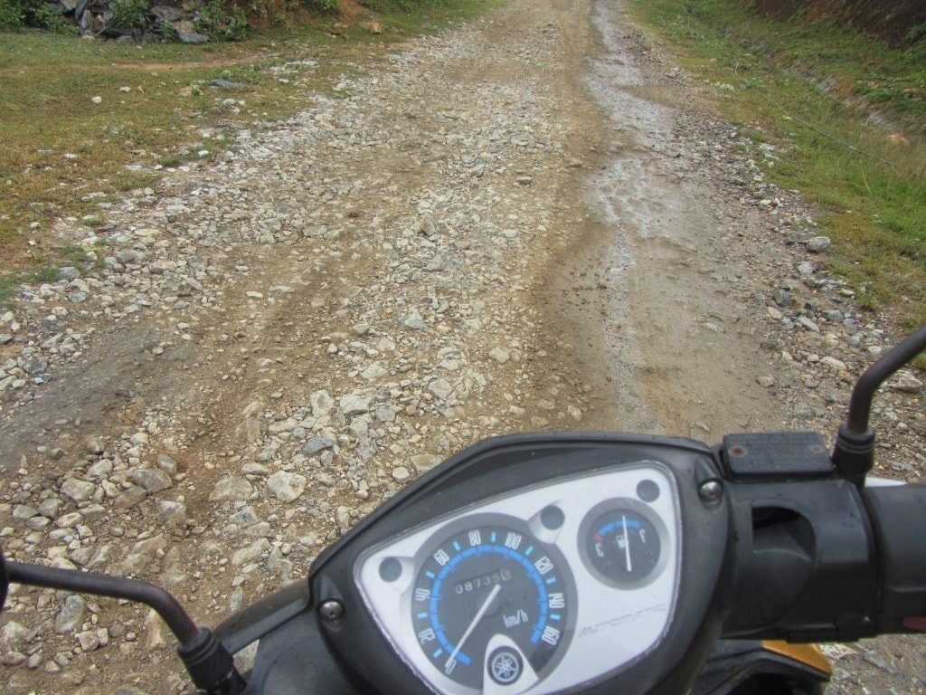 Bad roads in Ba Be National Park