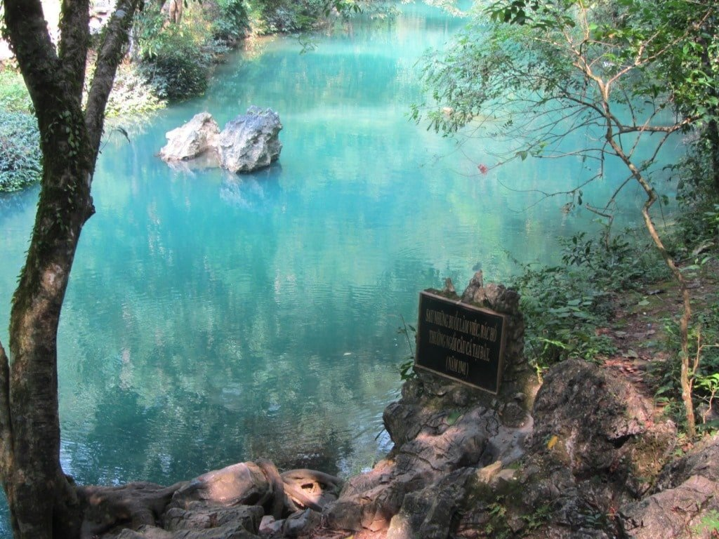 Creek in front of Pac Bo cave