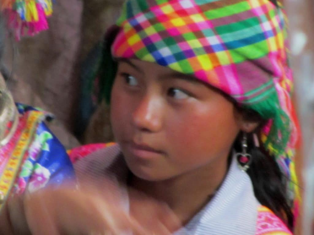 Ethnic minority girl, Sin Ho Market, northern Vietnam