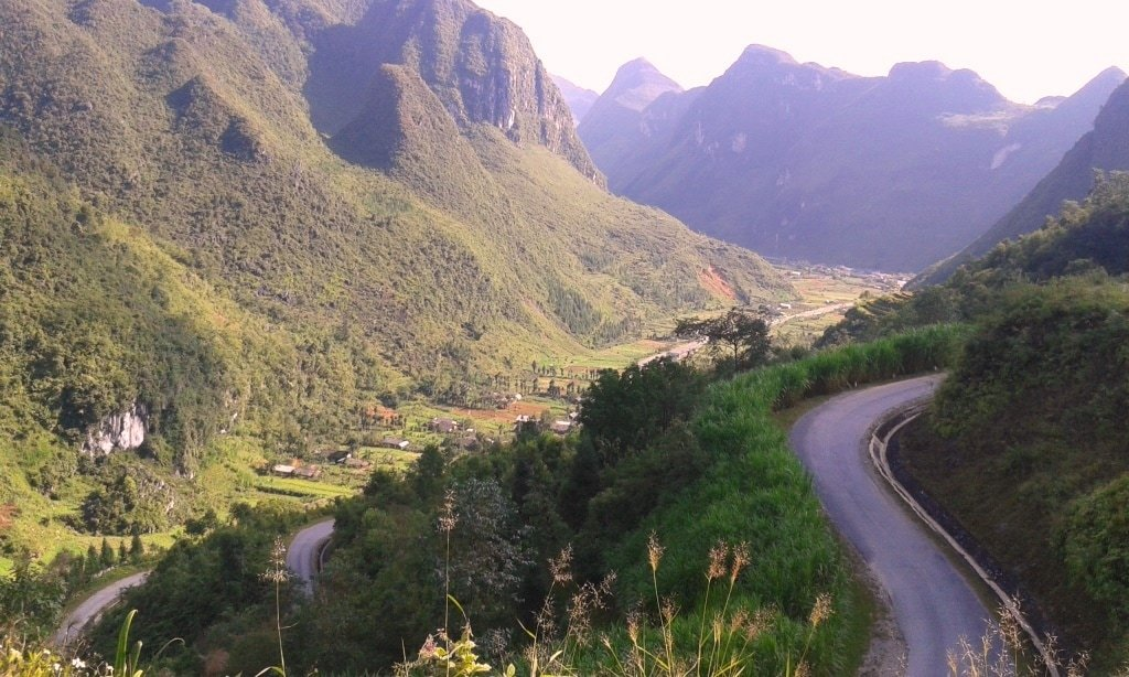 Switchback roads, Ha Giang North Loop, Vietnam