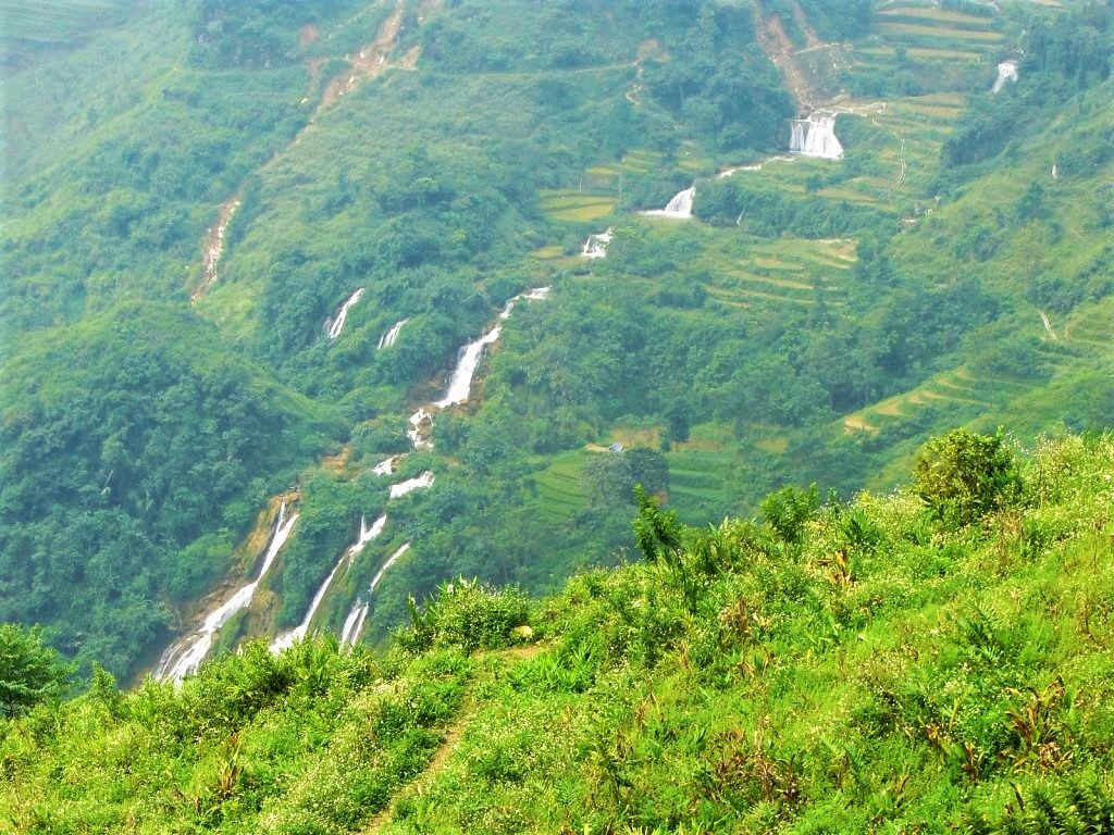 Waterfall by Road DT153, Lao Cai Province, Vietnam