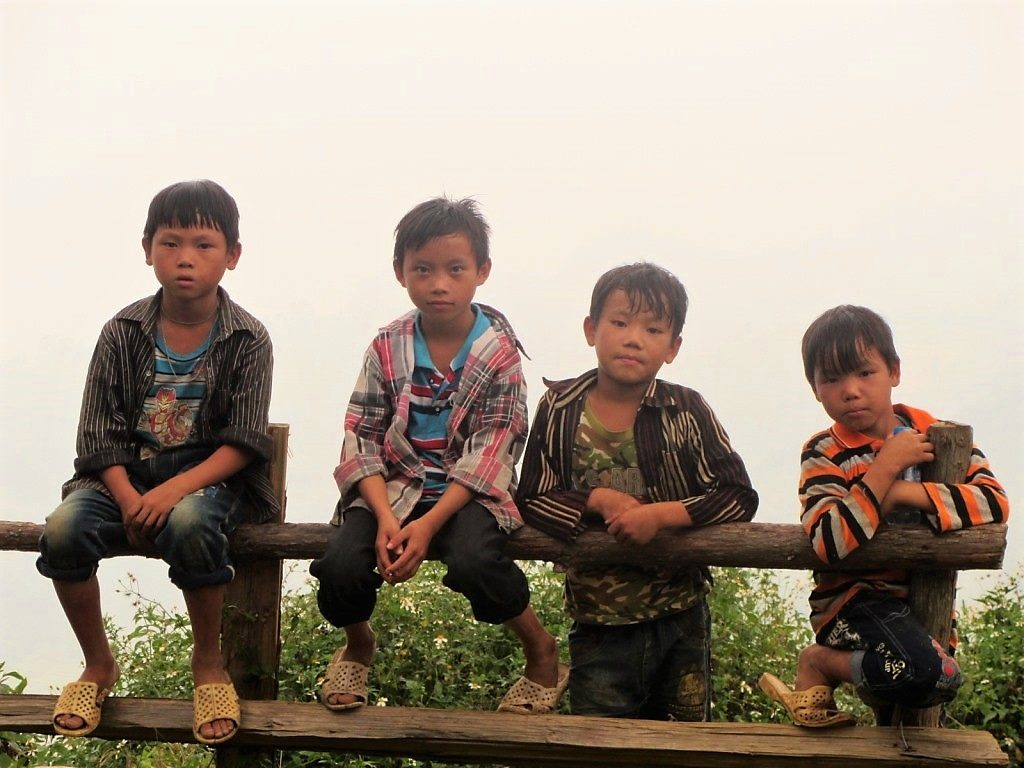 Children near Bac Ha, Lao Cai Province, Vietnam
