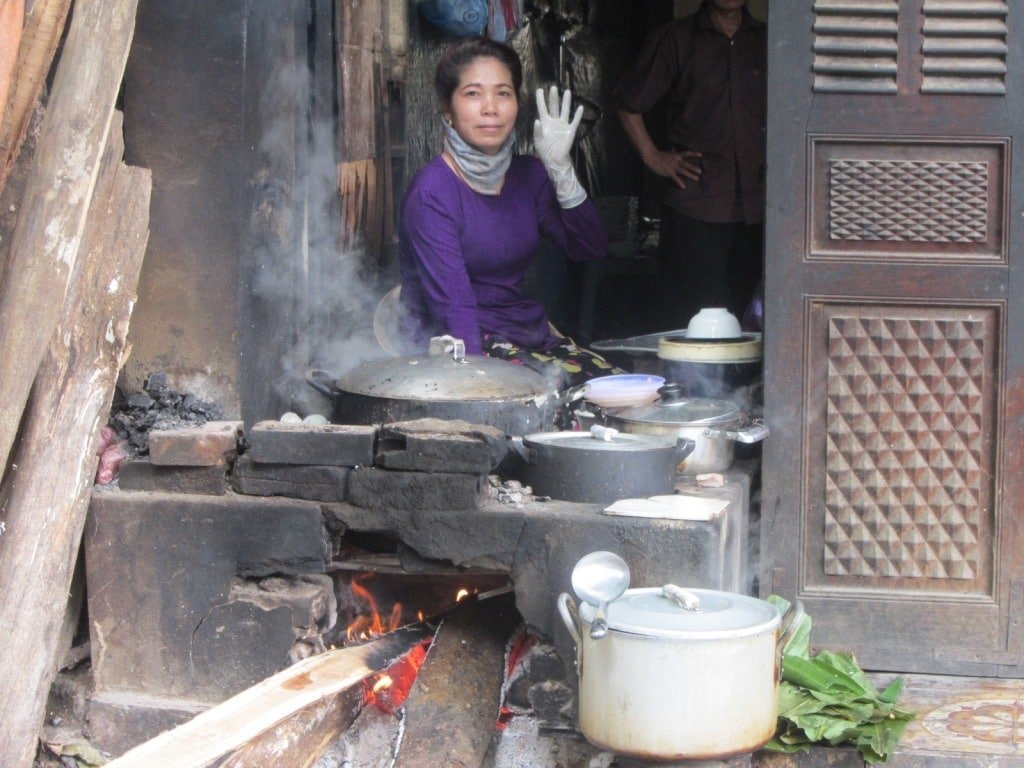 Banh cuon for breakfast in Ha Giang, Vietnam