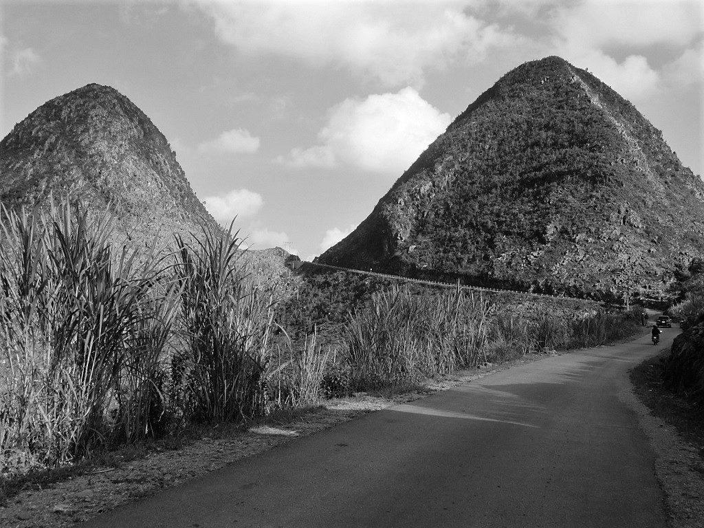 Road leading through the Dong Van Karst Plateau, Ha Giang