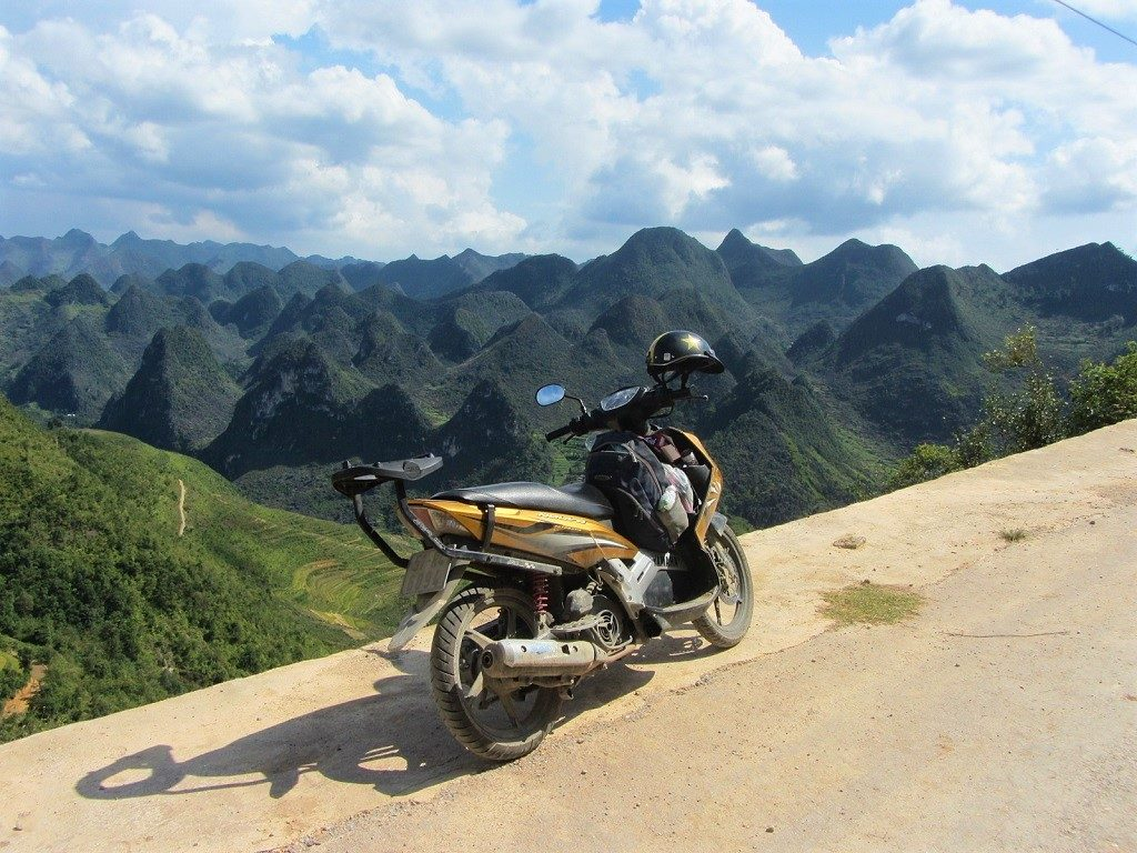 Limestone karst forest on the road to Lung Cu, Ha Giang