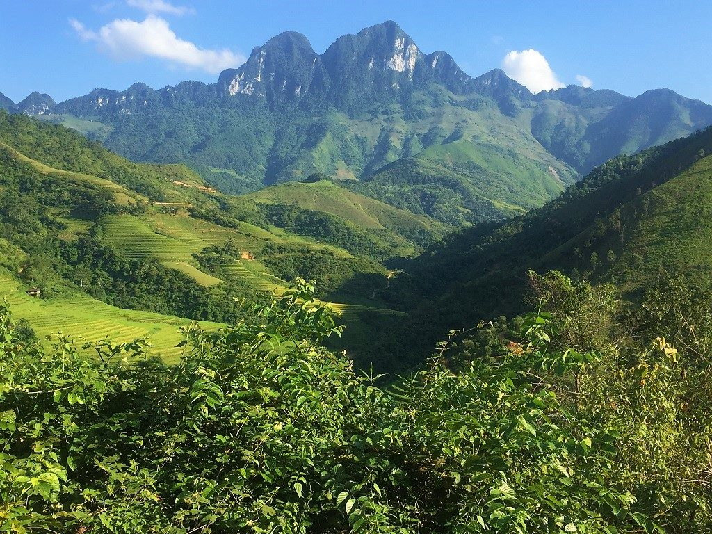 Spectacular scenery near Du Gia, Ha Giang Province