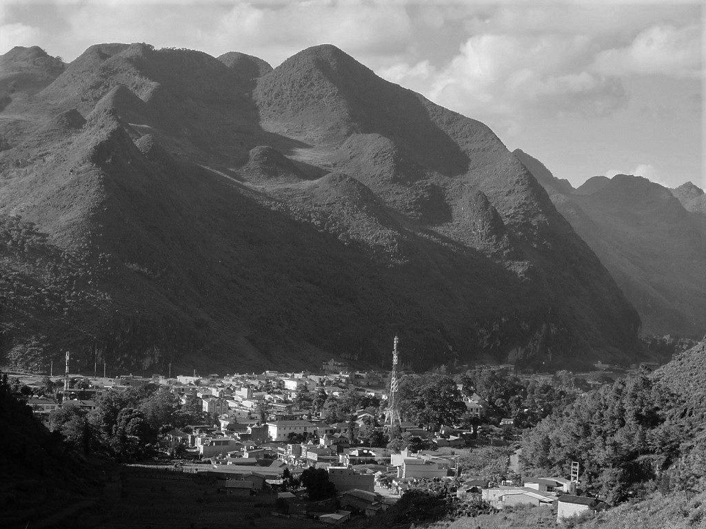 The town of Meo Vac, Ha Giang Province, Vietnam