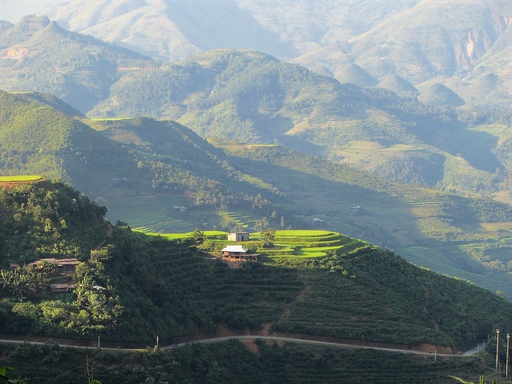 Mountain roads around Du Gia, Ha Giang Province