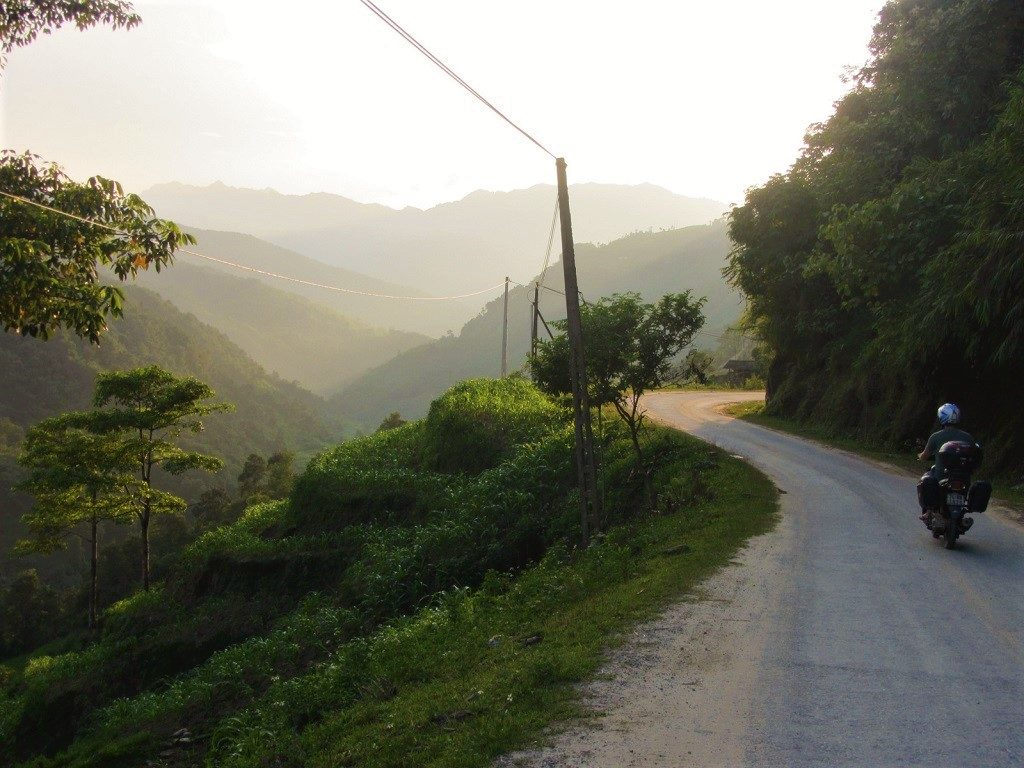 Riding along the Chay River valley, Road DT178, Hoang Su Phi, Ha Giang
