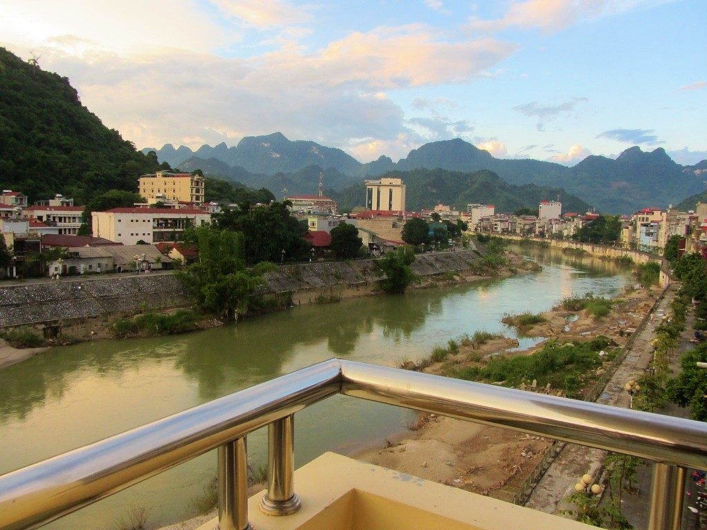 Ha Giang City, view from Thuy Tien Guest House, Vietnam