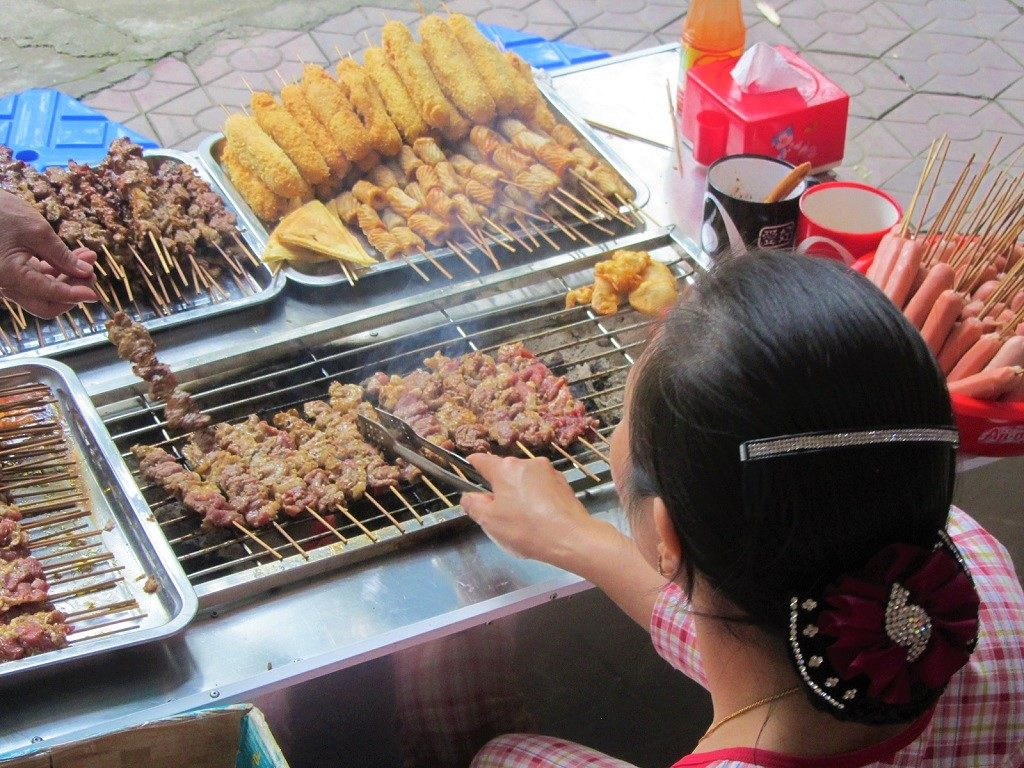 Street food in Lao Cai city, northern Vietnam