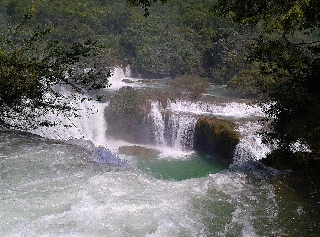 View from the top of the path behind Ban Gioc Waterfall, Cao Bang