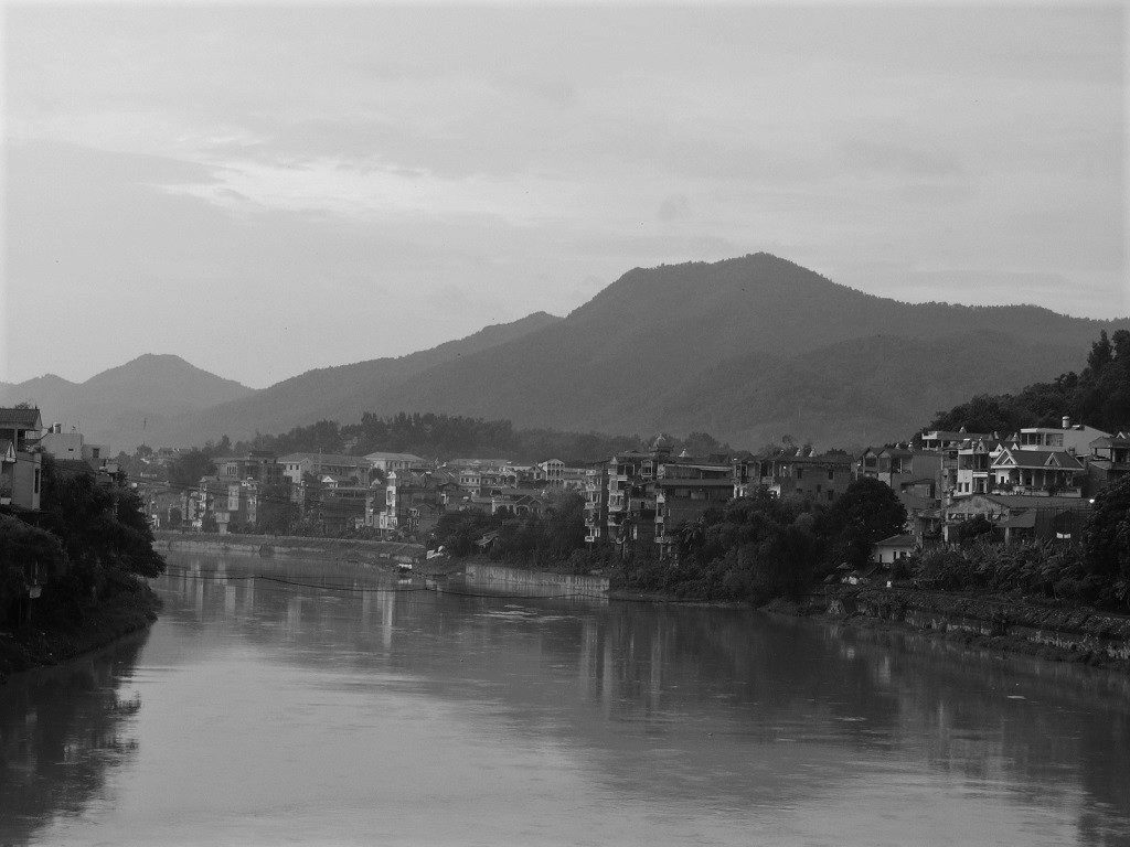 Cao Bang City on the Bang Giang River, Vietnam