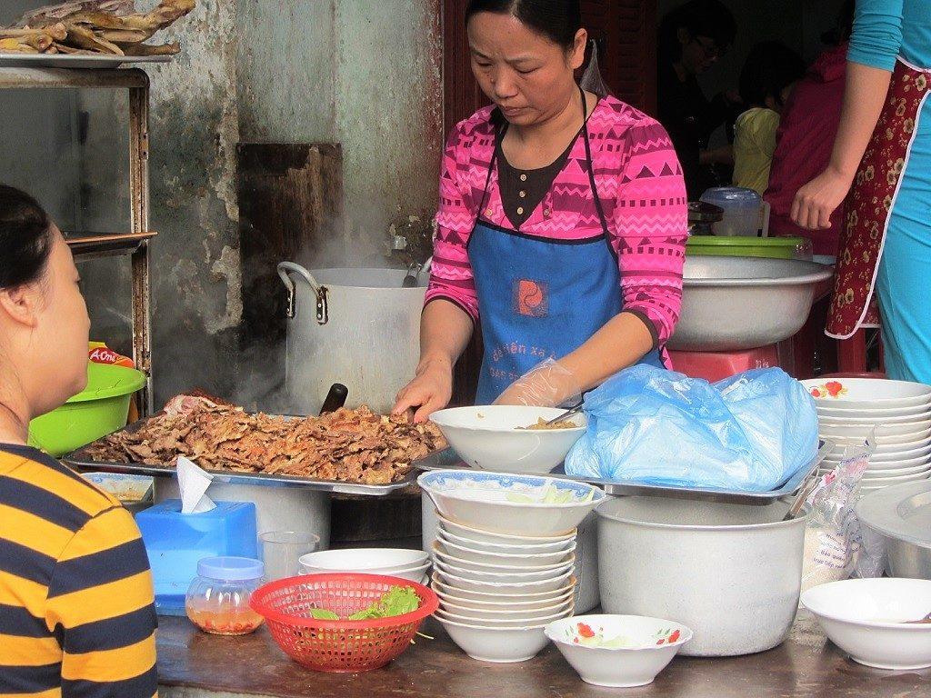 Noodle soup vendor, Cao Bang Province, Vietnam
