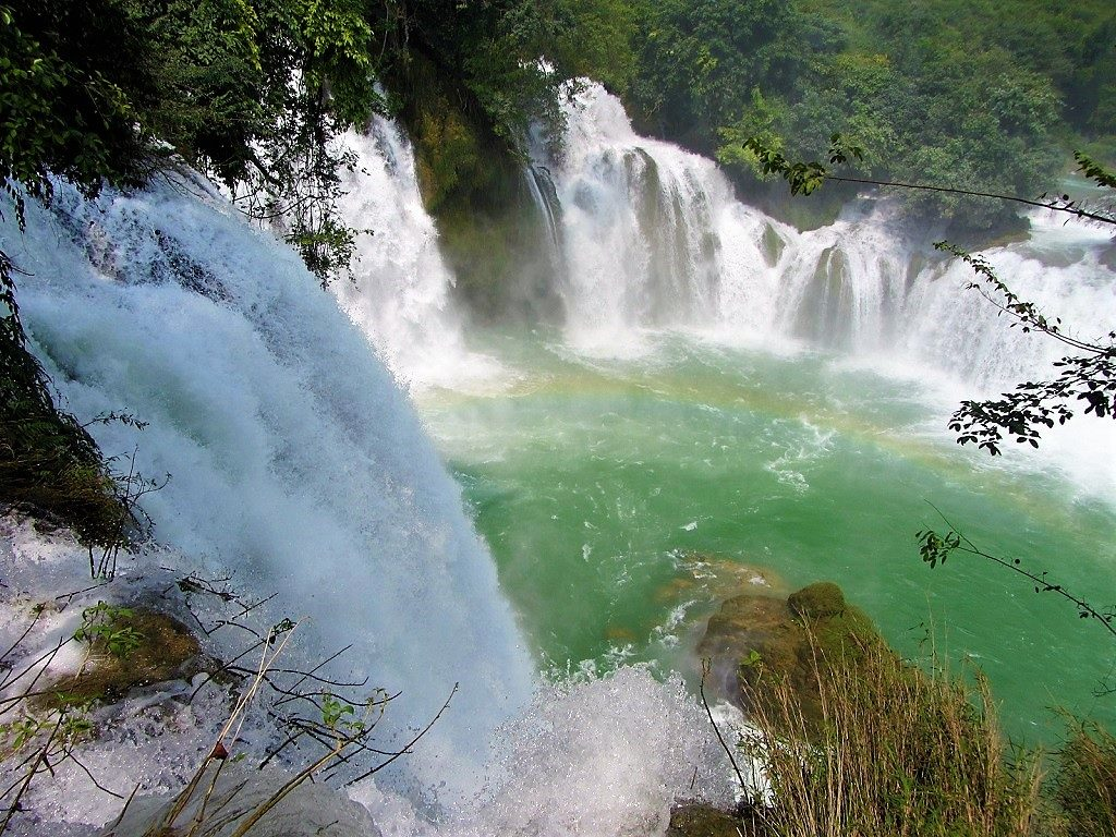 View from the path behind Ban Gioc Waterfall, Cao Bang