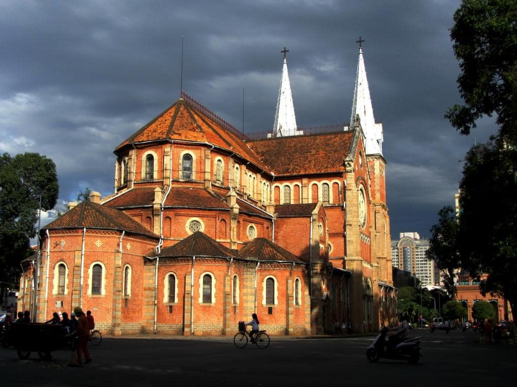 Notre Dame Cathedral at dawn, Saigon