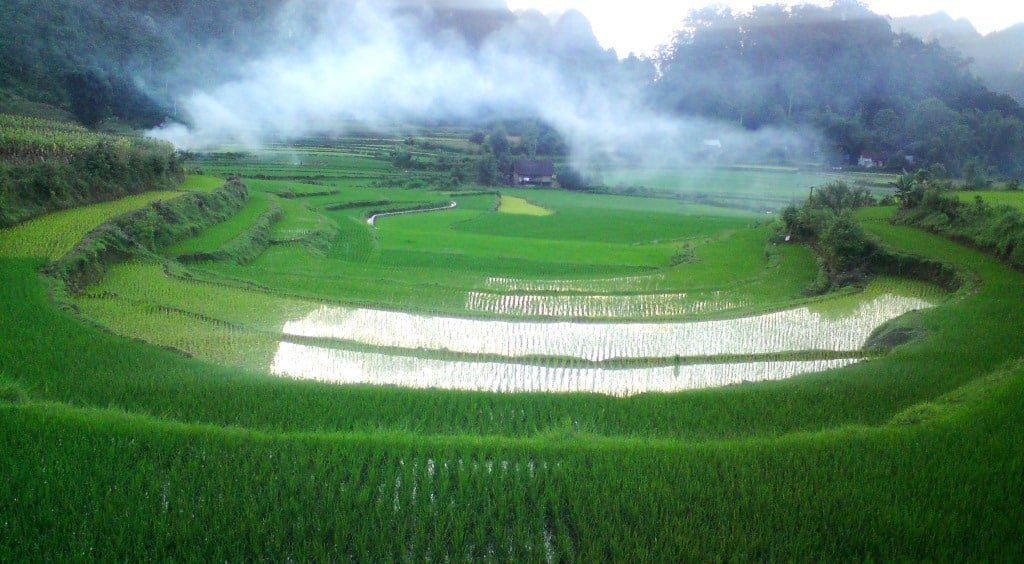 Dawn in the northern highlands, Cao Bang Province