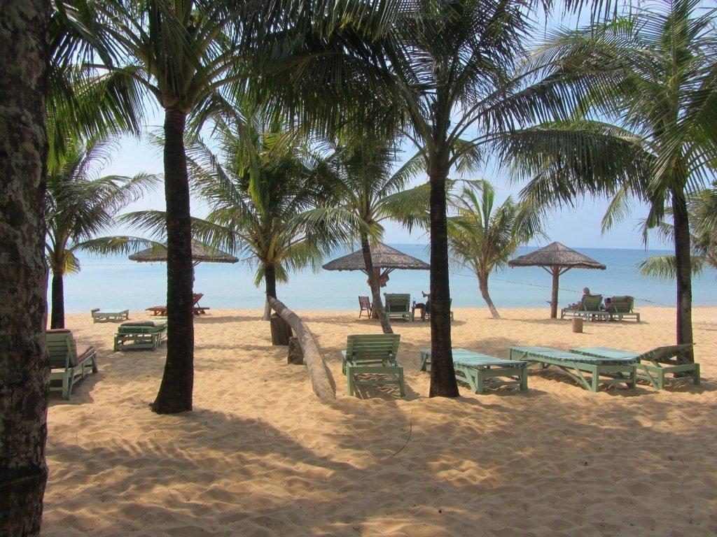 The beach at Thanh Kieu Resort