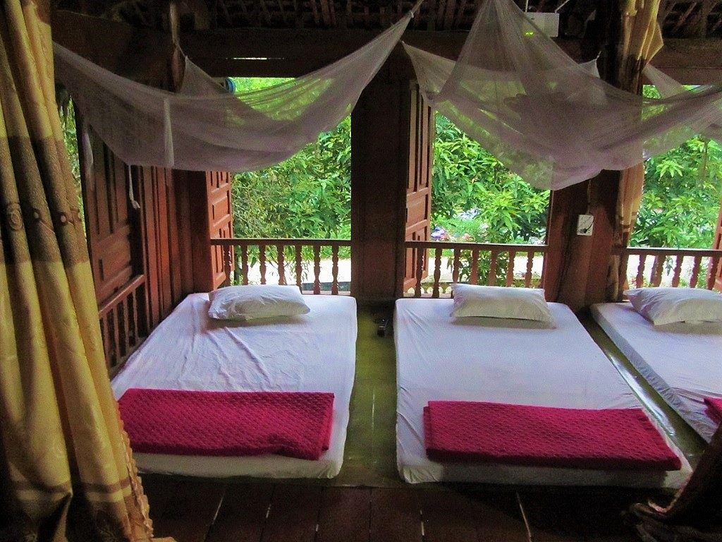 Sleeping on the floor at a homestay in Vietnam