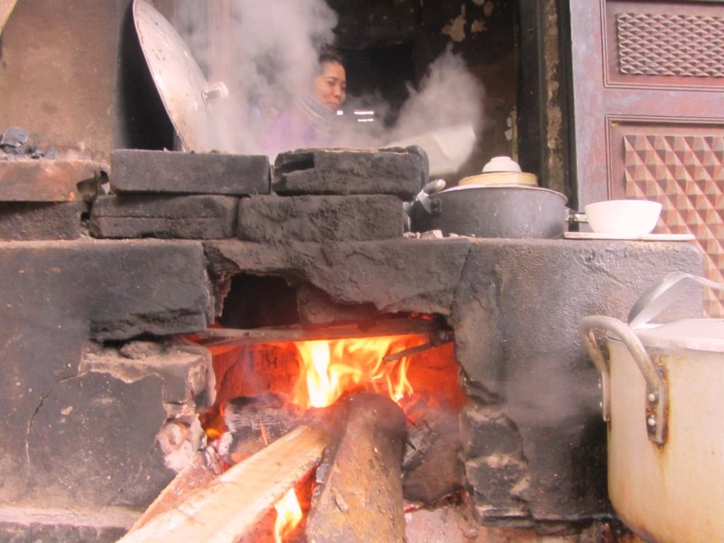 The hearth at Ha Giang noodle house