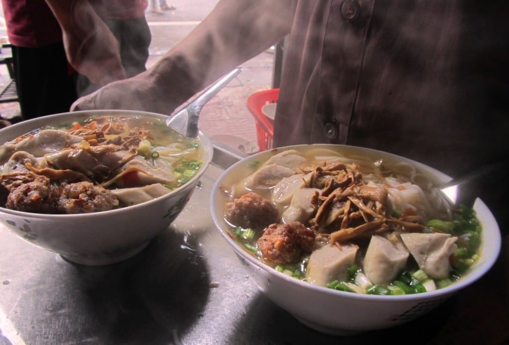 Bún chả at the Ha Giang soup house