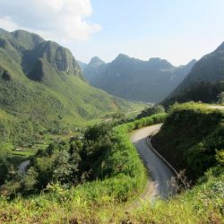 Roads in Ha Giang, Vietnam