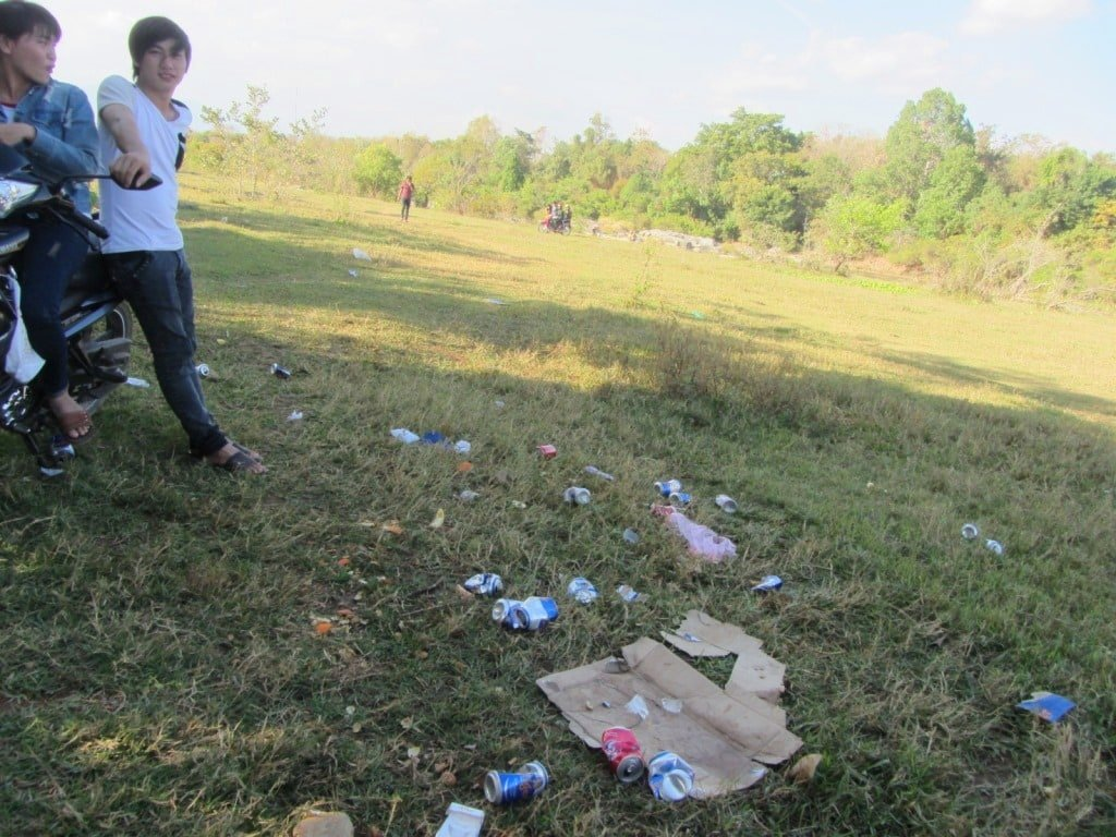 Picnic trash in Vietnam