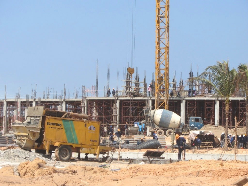 Construction on Phu Quoc Island, Vietnam